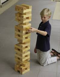 giant outdoor building block tower game