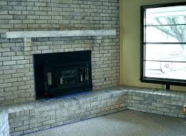 brick fireplace before and after fireplace makeover