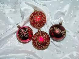 Traumhafter Christbaumschmuck Inge Glas Kugeln Rot Ornamente