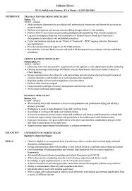 Banking Specialist Resume Samples Velvet Jobs