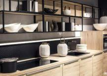 led lighting for kitchens. view in gallery undercabinet led strip lights used to illuminate the kitchen countertop led lighting for kitchens