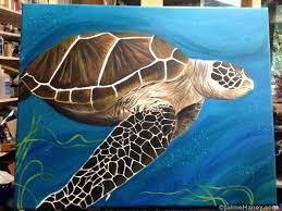 sea turtle paintings finished sea turtle painting shown in artists studio sea turtle watercolor painting tutorial sea turtle paintings