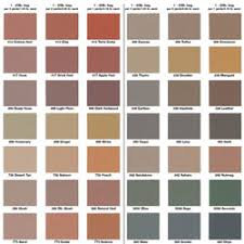 Concrete Stain Chart Stamped Concrete Color