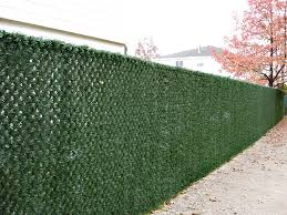 Beautiful Chain Link Fence Slats With Grasslook Inside Inspiration