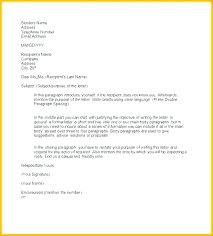 Template Formal Email Pattern Letter Writing Format Gallery