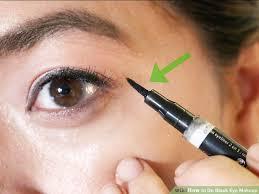 image led do black eye makeup step 8