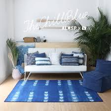 ins hot chill blue bohemia nordic living room carpet geometric morocco rug plaid striped kitchen bedside