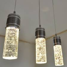modern led bubble column crystal hanging lamp three lamps chandelier style creative lamp lights bubble pendant light fixture chandelie modern chandelier bar