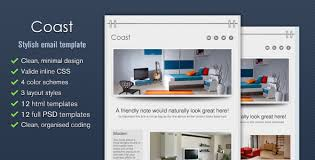 Coast Stylish Email Template Tumblog Style By Cazoobi Themeforest