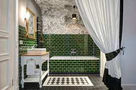 victorian bathroom bottle green tiles