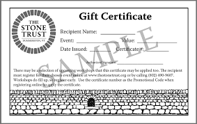 How To Make A Gift Certificate The Stone Trust Gift Certificates Make The Perfect Holiday