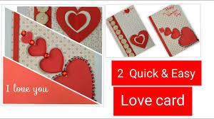 diy valentine cards handmade greeting cards for boyfriend how to make love valentine card ideas
