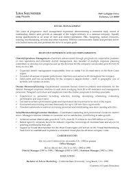 Retail Management Resume Unique Visual Merchandiser Resume