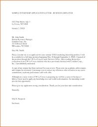 Write Application Letter Internship