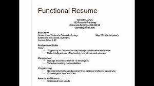 two types of resumes