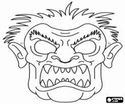 Small Picture Halloween masks coloring pages printable games 2