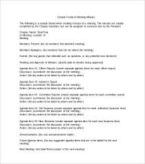 Meeting Of Minutes Format 42 Free Sample Meeting Minutes Templates Doc Pdf