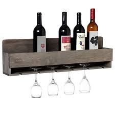Wall mounted wine bottle rack Angle Iron Amazoncom Mygift Barnwood Gray Wall Mounted Wine Bottle And Stem Glasses Display Rack Home Kitchen Amazoncom Amazoncom Mygift Barnwood Gray Wall Mounted Wine Bottle And Stem