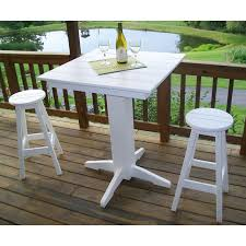 poly lumber wood patio set 44 square bar table and 4 stools amish made check out