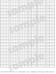 Scrabble Score Sheet Printable Digital Download Scoresheet For Scoring Games 18