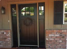 front door with sidelitesCrisp and clean just in time for spring Clopay Craftsman