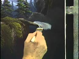 bob ross and the joy of painting a dramatic mountain waterfall from