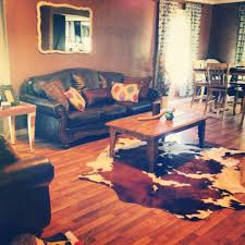 Western Couches Living Room Furniture Cowhide Rug Rustic Affordable Living Room For The Home