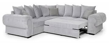 horizon corner sofa bed light grey