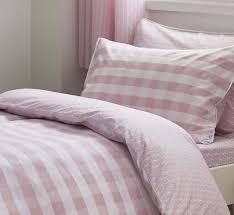 reversible children s duvet set pink gingham