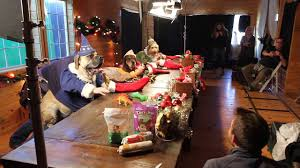 santa s elves dogs and cats with human hands making toys freshpet behind the scenes