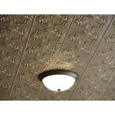 dimensions faux 2 ft x 4 ft tin style ceiling and wall tiles in brass