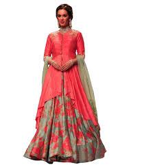 Nishtha Prints Women S Red Firozi Color Digital Print Banglori
