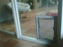 pet door in sliding glass door inside view alamo heights
