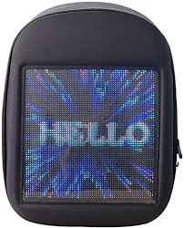 Novel Smart LED Backpack Cool Black Customizable ... - Amazon.com