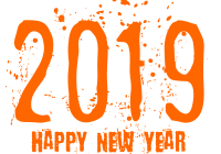 New Year 2019 Clipart With Text WhatsApp Sticker PNG Transparent ...