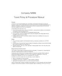 business policy example sample corporate travel policy template