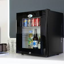 glass door mini fridge bar