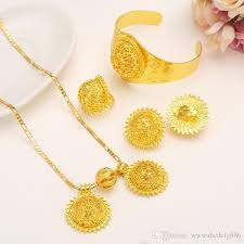 valuable 24k real solid fine gold filled big twin pendant lovable smiling face wedding jewelry sets