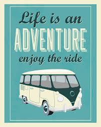 Vw Quote Retro Vintage Adventure Quote Print VW typography quote VW vintage 1