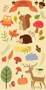 Free Critter Autumn Planner Stickers And Clip Art Free Pretty