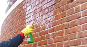 Cleaned brick wall before painting