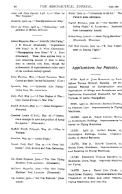 Marshall Street Flight Chart Applications For Patents The Aeronautical Journal
