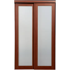 Interior Door With Frosted Glass Shop Reliabilt 1 Lite Frosted Glass Sliding Closet Interior Door