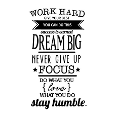 inspirational signs for office. Free Shipping Motivation Wall Decals Office Room Decor Never Give Up Work Hard , Dream Big Inspirational Quote Stickers-in Stickers From Home Signs For