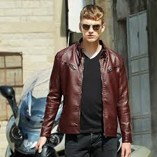 2018 2016 new pu leather jacket men black red brown solid mens faux fur coats trend slim motorcycle suede jacket male m 3xl from ziron 67 69 dhgate com