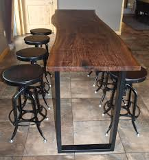 custom made live edge walnut bar height table