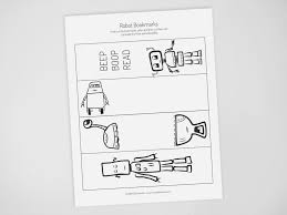 You can use our amazing online tool to color and edit the following bookmark coloring pages printable. Printable Robot Bookmarks Create In The Chaos