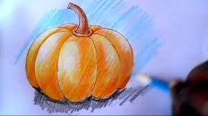 pumpkin drawing with shading. pumpkin drawing with shading