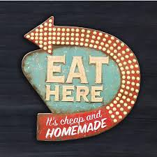 clearance eat here retro wall decor