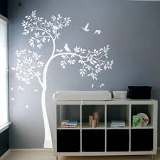 huge white tree wall decal vinyl sticker birds decal baby nursery bedroom wall art on tree wall art decals vinyl sticker with huge white tree wall decal vinyl sticker birds decal baby nursery